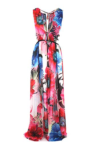 Guess Vivienne Dress Vestido, Multicolor (Lucy Flower Combo Ps97), Large para Mujer