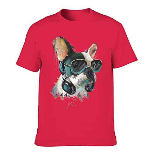 COMBON Shop Hombres Bulldog Francés Gafas De Sol Acuarela Algodón Camisetas - Ocio Top Wear