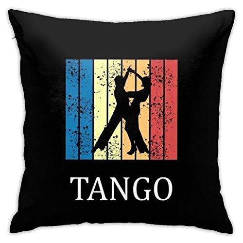 Kissenbezüge, 45,7 x 45,7 cm, Tango-Tänzerin, weiches Polyester, quadratisch, dekorativer Kissenbezug für Wohnzimmer, Sofa, Couch, Bett, Kissenbezüge 45 x 45 cm