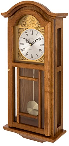 Fox and Simpson Madera Reloj de Pared con péndulo con carillón de Westminster, Roble