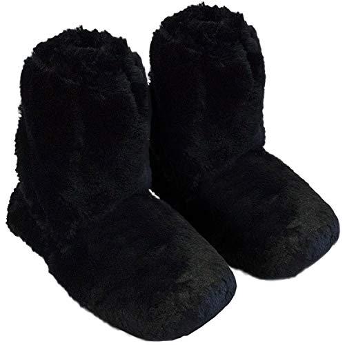 Thermo Sox Pantuflas altas originales supersuaves para horno y microondas, color Negro, talla 36/40 EU