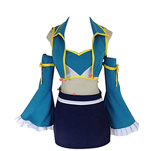 Femme Lucy Heartfilia Fairy Tail Cosplay déguisement Lolita Fille Schuluniformen Sailor Skirt Suit Hallowen Party Kleid