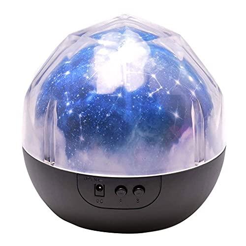 TRPYA Proyector de luz Nocturna, lámpara de proyección de luz de Noche de Universo, Estrella romántica Sea Cumpleaños Nueva lámpara proyector para Dormitorio - 3 Juegos de película