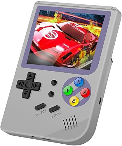Anbernic Handheld Spielkonsole , RG300 Retro Spielkonsole OpenDingux Tony System Built-in 3007 Klassische Spielkonsole, 3 Zoll HD Bildschirm Portable Spielkonsole (Gray)