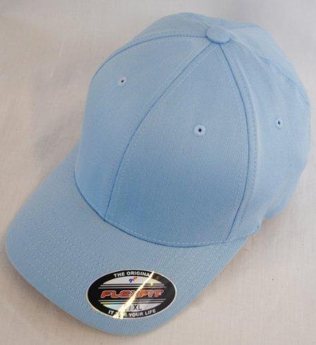 Yupoong Neuf Uni Flexfit Baseball Casquette Chapeau - Bleu Ciel, L/XL