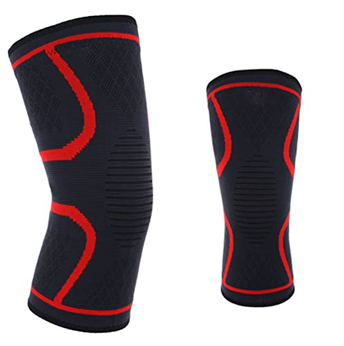 Ning Night Professionelle Kniepads, Knieunterstützung Brace Open-stabilisierte atmungsaktive Kniepads für Tanzen/Yoga/Sport/Übung/Volleyball 2Packs,D,L