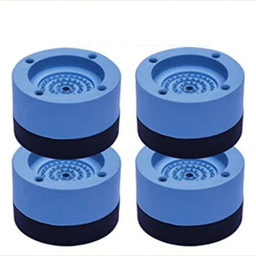 lefeindgdi Almohadillas gruesas para secador de lavadora, almohadillas antivibraciones, antideslizantes para secadora y lavadora, estabilizador, soporte para lavadora, parte apilable y base de goma