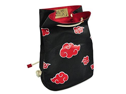 CoolChange Hochwertige Akatsuki Tasche | Seesack mit roten Wolken