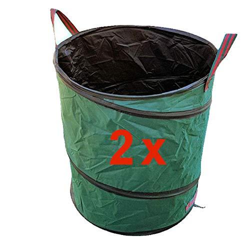 vabiono 2X Pop-Up Gartensack Gartentonne 170 ltr Oxford 600D Premium Qualität - selbstaufstellend robust faltbar