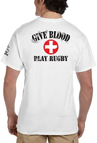 Give Blood Play Rugby Funny Short Sleeve T-Shirts-374
