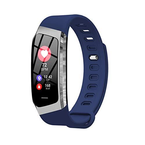 QY-Youth Pulsera Inteligente Hombres/Mujer Smart Watch Fitness Activity Tracker Pulsera Presión Arterial Monitor de Ritmo cardíaco Banda Inteligente,Azul