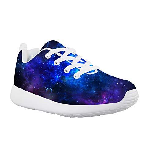 Showudesigns Zapatillas deportivas deportivas para niños y niñas, ligeras, transpirables, para el interior, color Morado, talla 18 EU