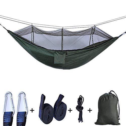 XHLLX Hamaca de camping al aire libre portátil doble anti-mosquito impermeable hamaca Swing