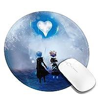 マウスパッド キングダムハーツ Kingdom Hearts マウスパッド Pcマット 丸型 個性的 オフィス用 ゲーム用 滑り止め 円形 防水PVCレザーマウスパッド 光学式マウス対応 柔軟 ラバー素材採用 ゴム製裏面 耐久性が良い おしゃれ