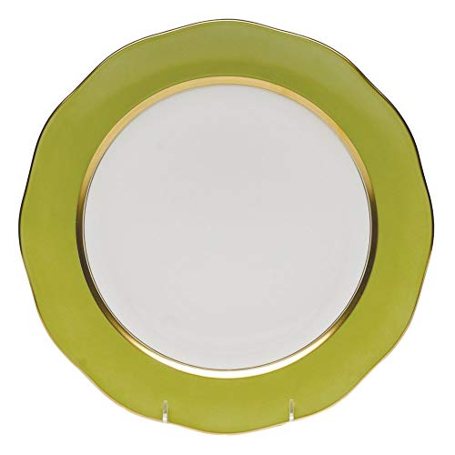 Herend Olive Green Porcelain Charger Plate