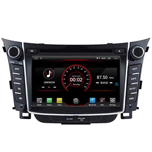 Autosion Android 10 DVD de voiture GPS Radio Head Unit Navi stéréo multimédia Wifi pour Hyundai i30 Elantra GT 2 génération 2011 2012 2013 2014 2015 2016 2017 Commande au volant