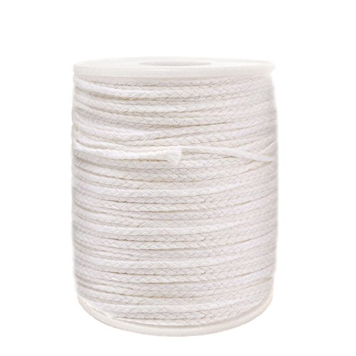 EricX Light #24PLY/FT Braided Wick: 200 Foot Spool.Candle Wicks for Candle Making,Candle DIY