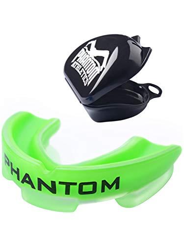 Phantom Athletics - Paradenti sportivo per arti marziali, boxe, adulto, verde fluo, Taglia unica