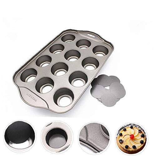 CULER Mini-käsekuchen Pan-Muffin-Form Stahl Antihaft-Beschichtung Rundem Boden Kuchen Bakeware Werkzeug