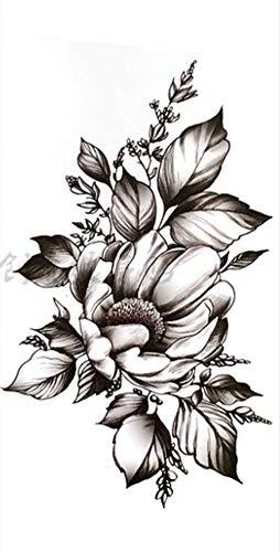EROSPA® Tattoo-Bogen temporär / Sticker - Blumen-Blüte - Wasserfest