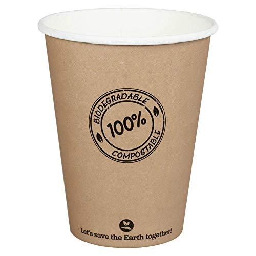 BIO kartonnen beker koffiebeker CoffeeToGo PLA tot 100 °C 300 ml | 100 Stk.