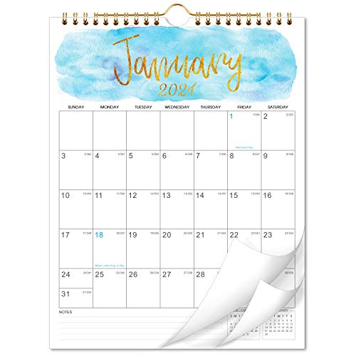 """2021-2022 Calendar - 18 Months Wall Calendar, 8.5"""" x 11"""", Jan 2021 - June 2022 Twin-Wire Binding, Large Blocks with Julian Dates Perfect for Planning and Organizing for Home or Office"""