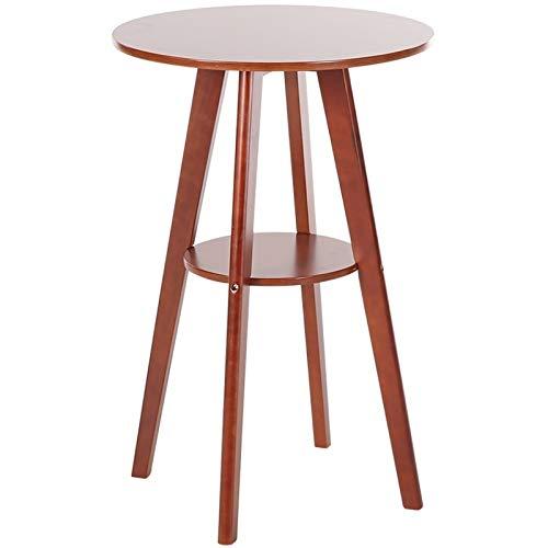 Kleiner praktischer Tisch Leicht zu reinigen Einfache Massivholz-Wear ResistanceDouble Runder Couchtisch, for Nachttische Couchtisch Haushalts (Color : Brown)