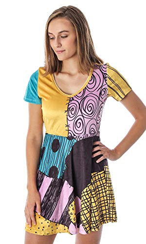 The Nightmare Before Christmas Juniors' I Am Sally Velvety Rag Doll Cosplay Costume Dress (X-Small)