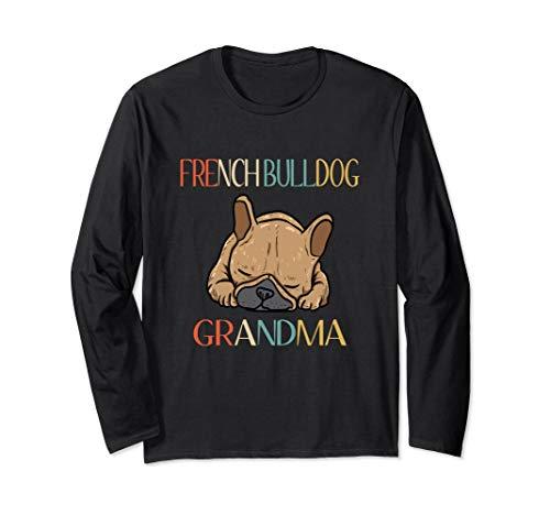 Retro French Bulldog Grandma Frenchie T-Shirt For Women