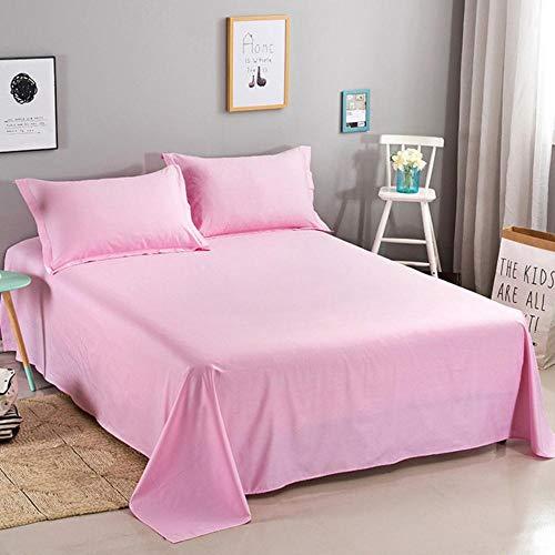 PENVEAT Solid Color 100% Cotton Bed Sheet Twin Full Queen King Size Plain Flat Sheet Super Soft Mattress Protector Sheet 45,Color 22,180x230cm Sheet 1Pc