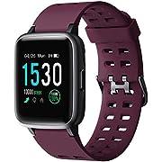 YAMAY Smartwatch, Impermeable Reloj Inteligente con Cronómetro, Pulsera Actividad Inteligente para Deporte, Reloj de Fitness con Podómetro Smartwatch Mujer Hombre