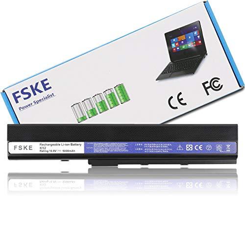 FSKE® A32-K52 Akku für Asus K52J K52 K52F X52F X52J K52JC A52J A52F X52N Serie Notebook Battery, 6 Zellen 10,8V 5000mAh