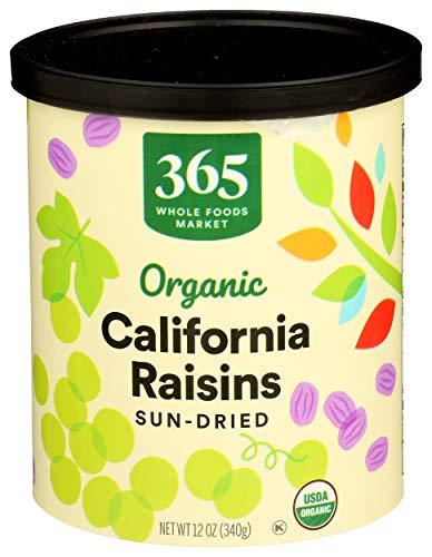 365 Everyday Value, Organic Raisins, California Sun-Dried, 12 oz