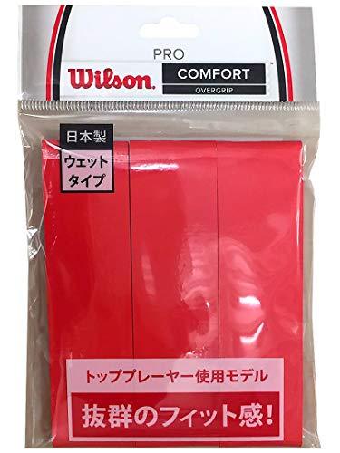 Wilson(ウイルソン) テニス バドミントン グリップテープ PRO OVERGRIP(プロオーバーグリップ) 3個入り レッド WRZ4020RD ウィルソン