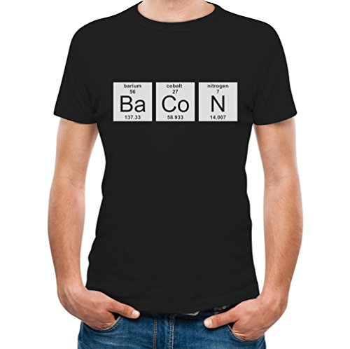 TeeStars - Bacon Chemistry Funny Periodic Table T-Shirt XX-Large Black
