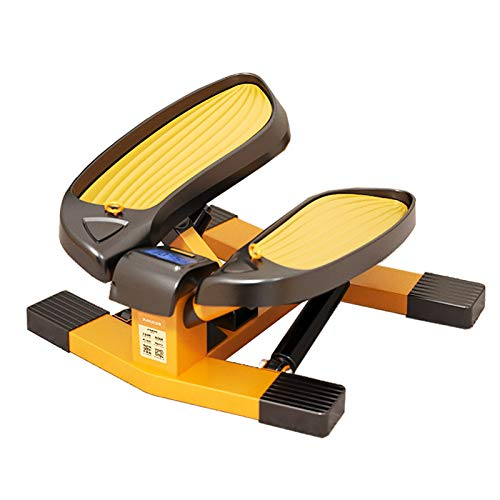 Mini Stepper, Step Cardio Fitness Maquina de Subir Escaleras Casa, Stepper Up-Down con Banda de Resistencia, Ideal para Principiantes, LCD Pantalla Multifuncional, Carga -150KG