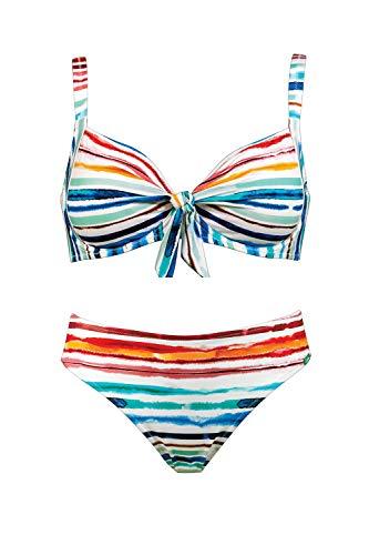 Lidea Bügel Bikini im Aquarell Design White-Multicolor 40E