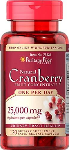 Arandano Rojo Concentrado 25000 mgrs 120 cps Puritan's Pride (Una al día)