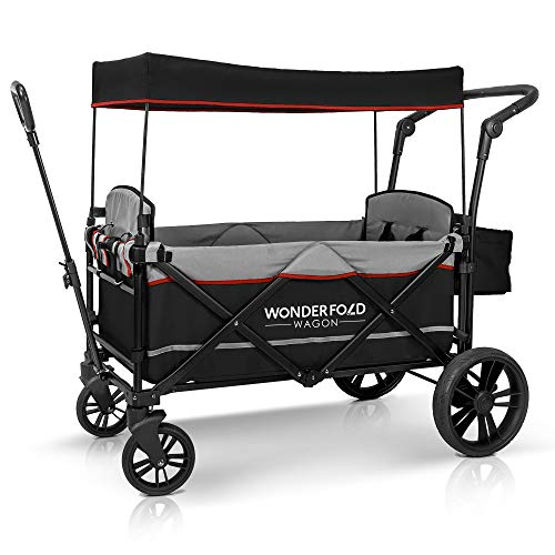 Fantastic Deal! WONDERFOLD X2 2 Passenger Push Pull Twin Double Stroller Wagon with Adjustable Handl...