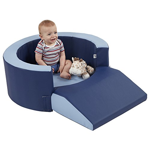 Review Of ECR4Kids ELR-12764-NVPB Softzone Lil Personal Space Cozy Foam Retreat, Navy/Powder Blue