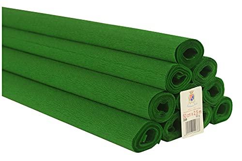 10 Rollen Krepppapier 60 g einfarbig grün Flagge
