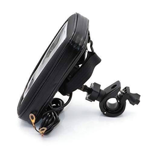 evomosa Soporte para teléfono móvil para bicicleta moto universal impermeable para smartphone de 5.5'' a 6.5 ''