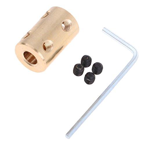 perfeclan Acoplamiento de Eje Adaptador de Manga de Acoplador de Motor Paso a Paso Rígido con Llave Tornillo - 10mm a 10mm