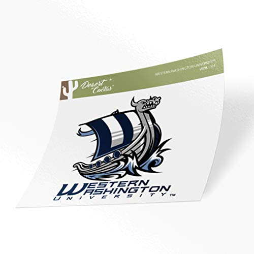 Western Washington University WWU Vikings NCAA Vinyl Decal Laptop Water Bottle Car Scrapbook (Sticker - 001)