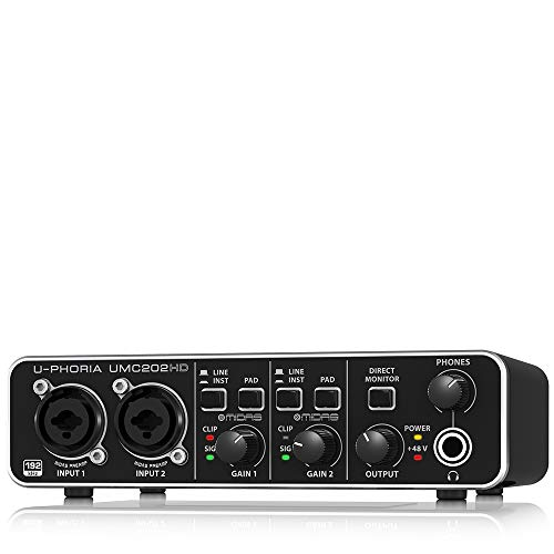 BEHRINGER U-Phoria UMC202HD, 2-Channel