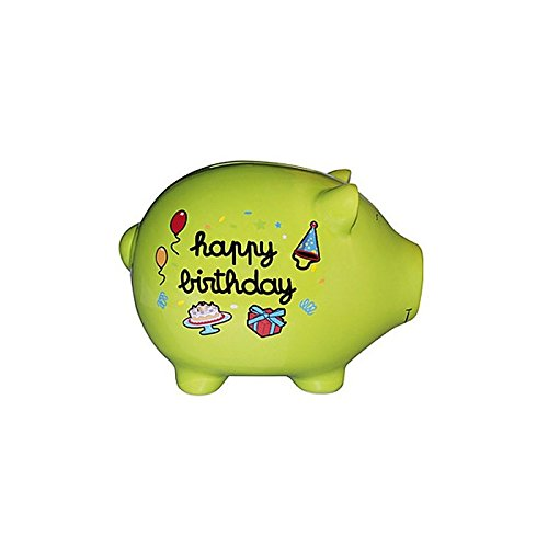 DECO andDES MOTS - TIRELIRE GEANTE COCHON - Cagnotte happy birthday