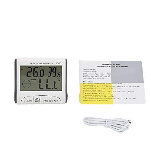 Thermometer - Digitales Gefrierthermometer Innen-/Außentemperatursensor mit akustischem Alarm
