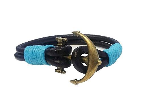La Loria Pulsera Unisex Ancla Azul Claro muñequera diseño del Ancla Gran Idea para un Regalo