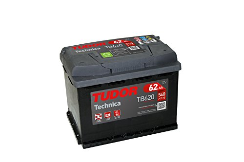 Batería para coche Tudor Exide Technica 62Ah, 12V. Dimensio