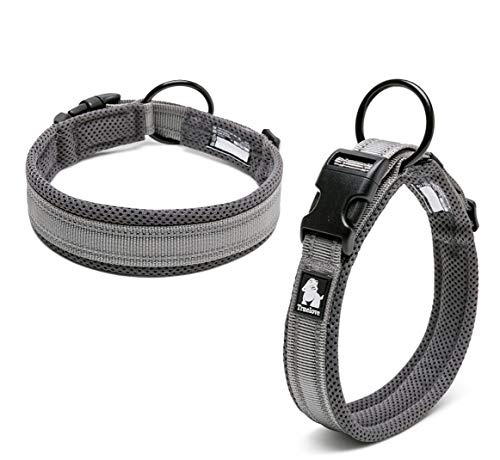 Kismaple Adjustable Reflective Dog Collar Padded Soft Cosy Breathable Collar for...